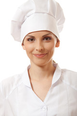 smiling woman chef