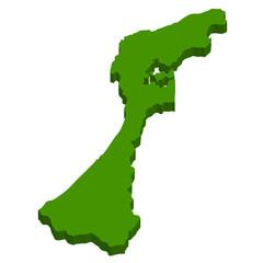 石川 地図 3D