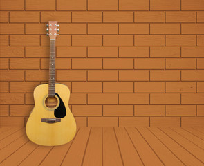 Guitar in room background
