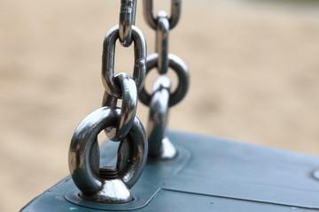 steel metal chain links segment