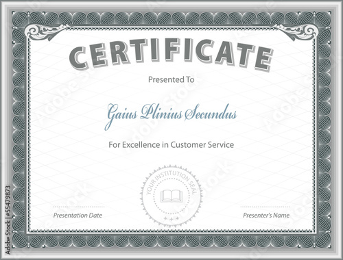 "Certificate Of Excellence Template"" Stock Image And Royalty-Free"