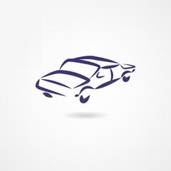 Fototapete - Car icon