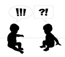 babies talk surprised