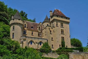 Perigord, the picturesque castle of La Malartrie in Dordogne