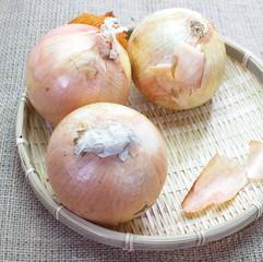 Fresh golden onions