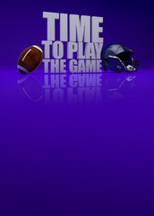 Time to play game - american football 3D text