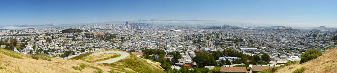 San Francisco panorama, from Twin Peaks, California