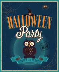 Wall Mural - Halloween Party Poster. Vector illustratoin.