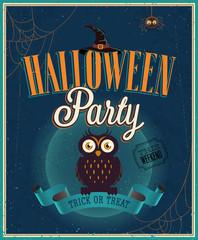 Wall Mural - Halloween Party Poster. Vector illustratoin.