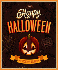 Wall Mural - Happy Halloween Poster. Vector illustratoin.