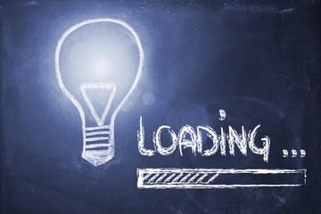 idea loading, progress bar on blackboard