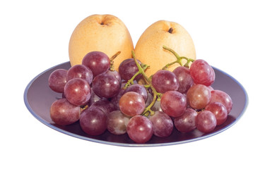 Chinese pear and grape