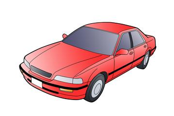 Honda Legend na białym tle grafika. Gradient. Wysoka jakość.