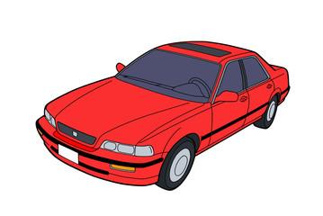 Luksusowe auto na białym tle grafika. Więcej szczegółów.