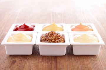 mayonnaise,ketchup,mustard and other sauce