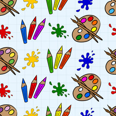 Crayons and palettes