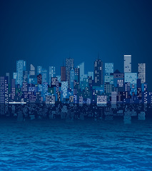 water cityscape