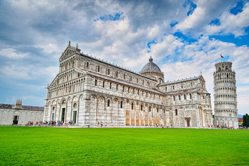 Pisa, baptistery, cathedral and tower