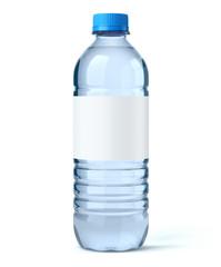 Bouteille d'eau sur fond blanc 2
