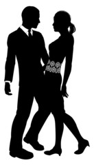 Attractive Couple Silhouette