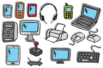 Icons - Electronics 2 (colors)