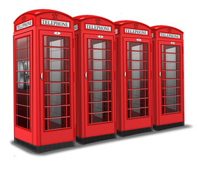 Britische Telefonzellen