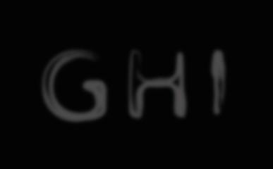 Smoke alphabet font. Letters G-I
