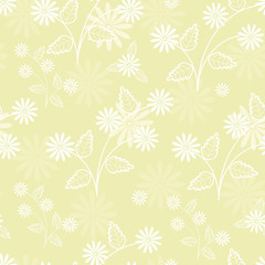 vector seamless flower background for your design