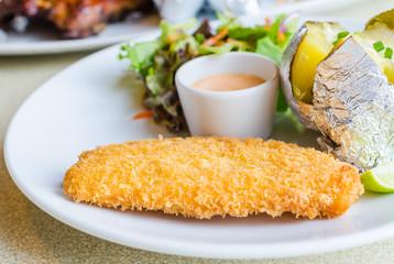 Fried Fish Steak
