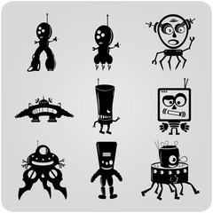 9 vector contour robots