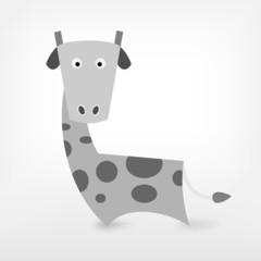 Graphic Black and White giraffe