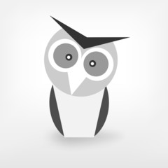 Graphic Black and White owl