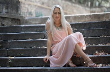 Beautiful young blond woman photo