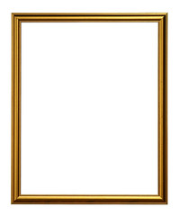 Golden Picture Frame Isolated On White