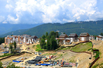 Construction of new hotels in the mountain Olympic village