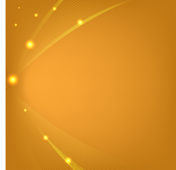 Abstract orange background with mesh and glows