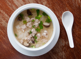 rice porridge with pork
