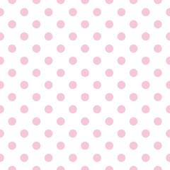 Bezszwowe wektor wzór pastelowe różowe kropki białe tło - 55581044
