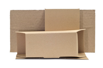 cardboard boxes and corrugated cardboard