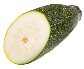 green zucchini cut in half