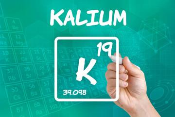 Symbol für das chemische Element Kalium