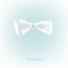 Ribbon white bow