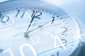 clock and virtual screen