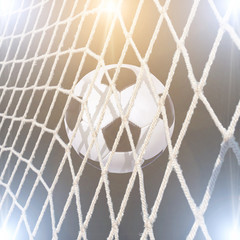 Fototapeta soccer stadium with bright lights