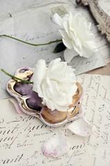 Wall Mural - White roses