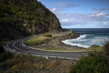 Küstenstraße in Australien