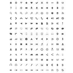 Basic  icons set - web and application icons