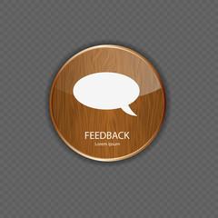Feedback wood application icons