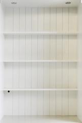 White wooden shelf