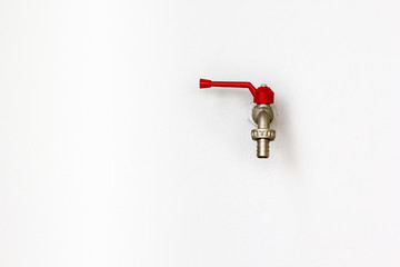 Faucet on wall